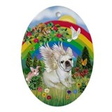 French Bulldog Angel Rainbow Keepsake (Oval)