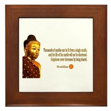 Buddha Buddhism Quotes Framed Tile