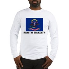 North Dakota Flag Long Sleeve T-Shirt