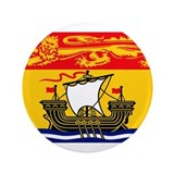 "New Brunswick Flag 3.5"" Button (100 pack)"