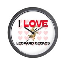 I Love Leopard Geckos Wall Clock
