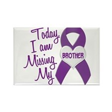 Missing My Brother 1 PURPLE Rectangle Magnet