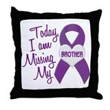 Missing My Brother 1 PURPLE Throw Pillow