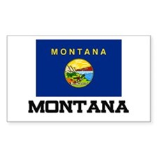 Montana Flag Rectangle Decal