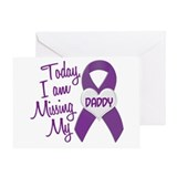 Missing My Daddy 1 PURPLE Greeting Card