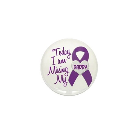 Missing My Daddy 1 PURPLE Mini Button (10 pack)
