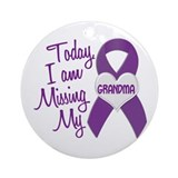Missing My Grandma 1 PURPLE Ornament (Round)