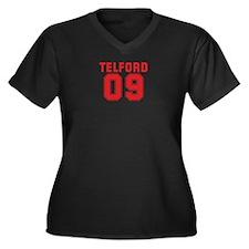TELFORD 09 Women's Plus Size V-Neck Dark T-Shirt