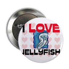 "I Love Jellyfish 2.25"" Button (10 pack)"