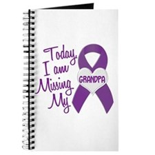 Missing My Grandpa 1 PURPLE Journal