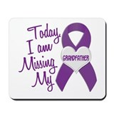Missing My Grandfather 1 PURPLE Mousepad