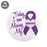 "Missing My Grandfather 1 PURPLE 3.5"" Button (10 pa"
