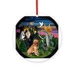 The Wizard & His Golden Keepsake (Round)