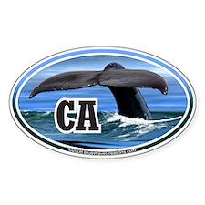 CA 10 California Whale Tail Oval Bumper Stickers