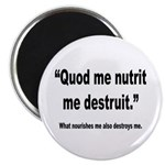 Latin Nourish and Destroy Quote Magnet