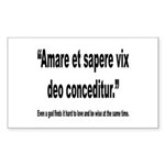 Latin Wise Love Quote Rectangle Sticker