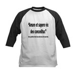 Latin Wise Love Quote Kids Baseball Jersey