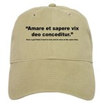 Latin Wise Love Quote Cap