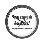 Latin Wise Love Quote Wall Clock