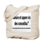 Latin Wise Love Quote Tote Bag