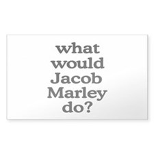 Jacob Marley Rectangle Sticker 50 pk)