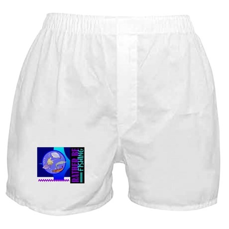 Rather Be Fishing Boxer Shorts