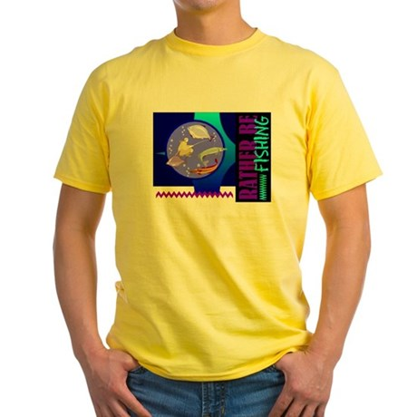 Rather Be Fishing Yellow T-Shirt
