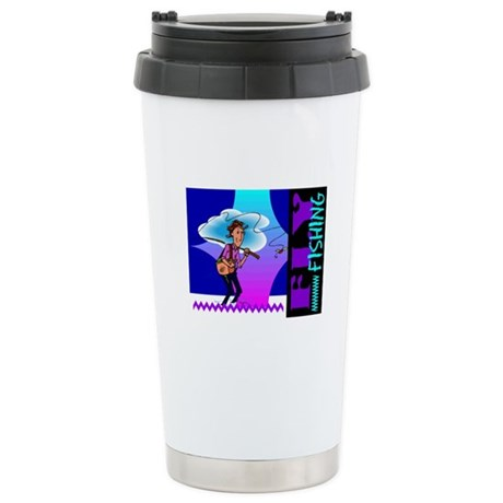 Fly Fishing Ceramic Travel Mug