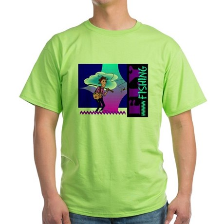Fly Fishing Green T-Shirt