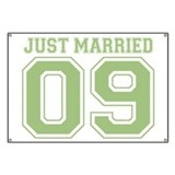 Just Married 09 (Green) Banner