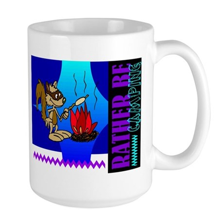 Rather Be Camping Large Mug