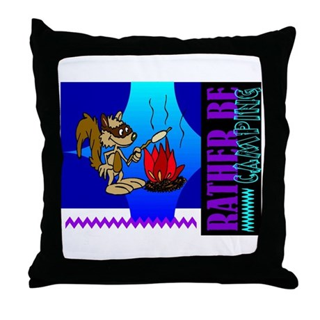 Rather Be Camping Throw Pillow