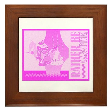 Rather Be Camping Framed Tile
