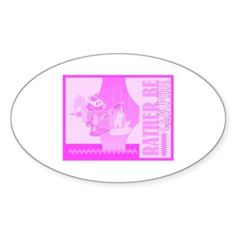 Rather Be Camping Oval Sticker