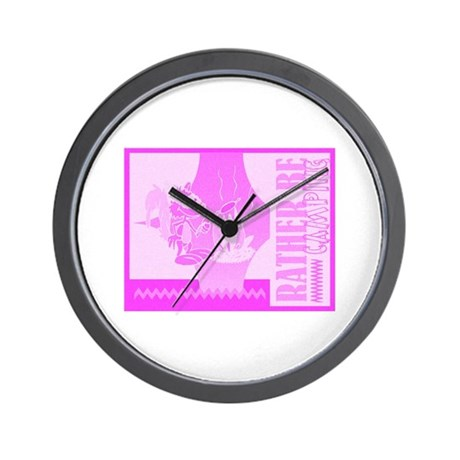 Rather Be Camping Wall Clock