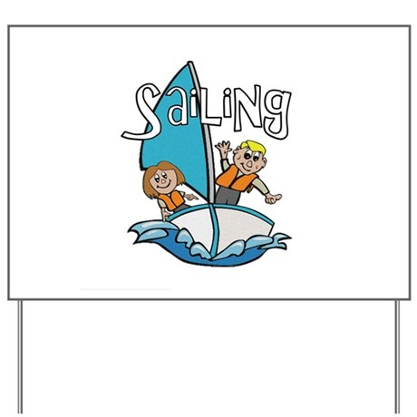 Sailing Yard Sign