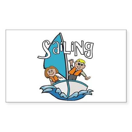 Sailing Rectangle Sticker