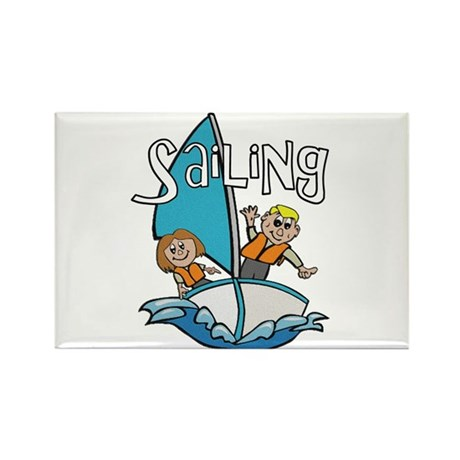 Sailing Rectangle Magnet (100 pack)