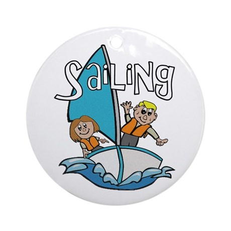 Sailing Ornament (Round)