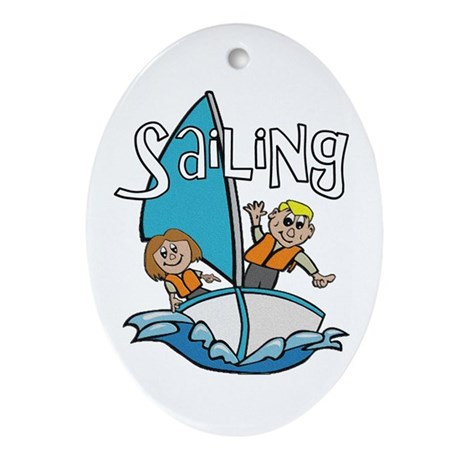 Sailing Oval Ornament