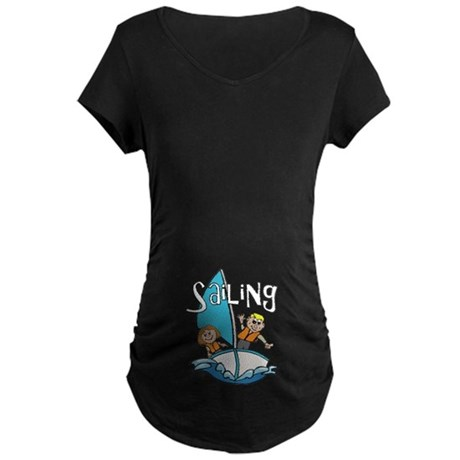 Sailing Maternity Dark T-Shirt