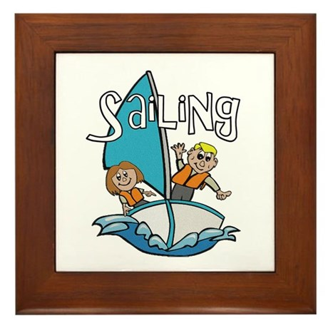 Sailing Framed Tile