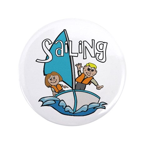 "Sailing 3.5"" Button (100 pack)"