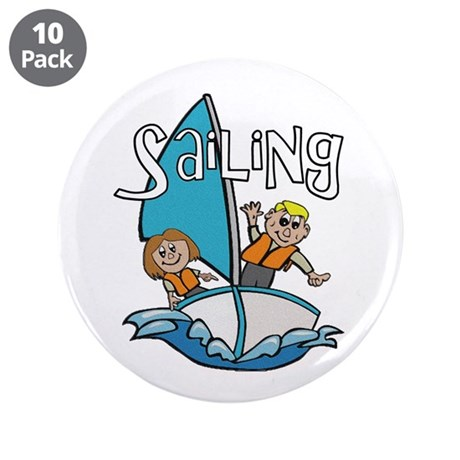 "Sailing 3.5"" Button (10 pack)"