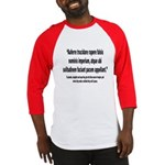Latin Anti War Imperialsim Quote Baseball Jersey
