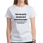 Latin Anti War Imperialsim Quote (Front) Women's T