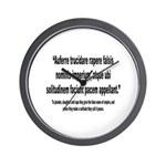 Latin Anti War Imperialsim Quote Wall Clock