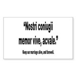 Latin Marriage Alive Quote Rectangle Sticker 10 p
