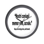 Latin Marriage Alive Quote Wall Clock