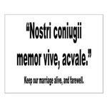 Latin Marriage Alive Quote Small Poster